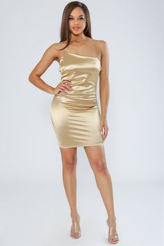 f23ddfa133 Midnight in Paris Satin Bodycon Mini Dress-S-Gold-KNOWSTYLE | @knowstyleusa
