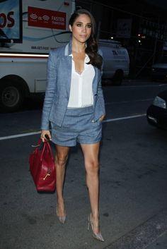 Meghan Markle en robe tailleur short