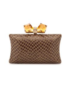 Judith Leiber Leather Clutch