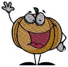 Happy Pumpkin embroidery stitches