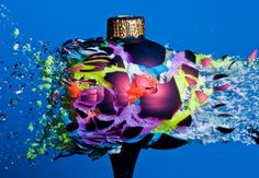 """Incredible high speed photos of exploding Christmas ornaments by Alan Sailer. """"Photographer Alan Sailer works out of his garage shooting things with a high-speed pellet… Christmas Baubles, Christmas Decorations, Holiday Decor, Christmas Time, Merry Christmas, High Speed Photography, Macro Photography, Movement Photography, Indoor Photography"""