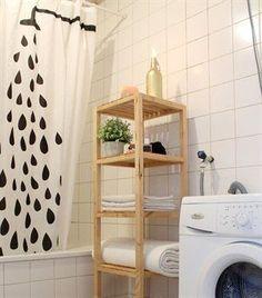 MOLGER stellingkast | Deze pin repinnen wij om jullie te inspireren! #IKEArepint #badkamer #DagRommel