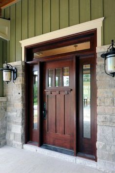 """View this Great Craftsman Front Door with Glass panel door & Transom window by Julie Wyss. Discover & browse thousands of other home design ideas on Zillow Digs."""