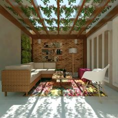 Small Outdoor Spaces, Outdoor Seating Areas, Bamboo Roof, House In Nature, Patio Interior, Backyard Garden Design, Best Places To Live, Outdoor Living, Outdoor Decor