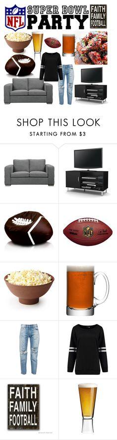 """Super Bowl Party Contest"" by juliamella on Polyvore featuring interior, interiors, interior design, home, home decor, interior decorating, Inari, South Shore, LSA International and Levi's"