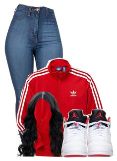 """""""Untitled #2286"""" by alisha-caprise ❤ liked on Polyvore featuring adidas and Retrò"""