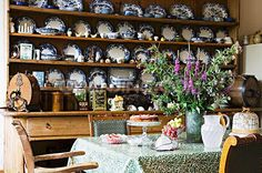 Sideboard with transferware collection...