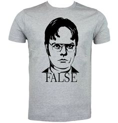 584a56907 Dwight Schrute 'False' The Office T-Shirt Available in Different Colours &  Sizes