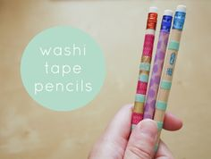 handmade / washi tape pencils
