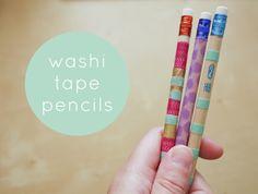 handmade / washi tape pencils