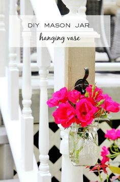 Have a garden full of flowers and looking for an easy project? Why not make a mason jar vase? Click here to see the DIY!