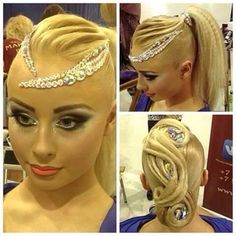 Love this hair style, for ballroom and Latin
