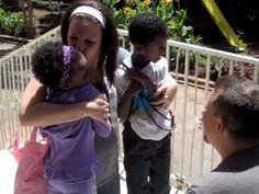 This couple is about to change two children's lives forever and their first embrace is tear-jerking | Rare