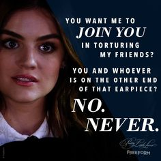 "S7 Ep14 ""Power Play"" - No. Never. #PLLEndGame"