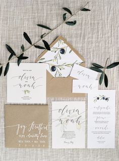 Neutral stationery suite | Photography: Melanie Nedelko - melanienedelko.com/  Read More: http://www.stylemepretty.com/destination-weddings/2015/06/17/rustic-elegant-tuscan-wedding-inspiration/
