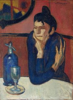 Pablo Picasso, Femme au Cafe (Absinthe Drinker), 1901-2 on ArtStack #pablo-picasso #art