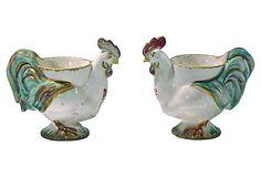 Chicken Egg Cups, Pair on OneKingsLane.com