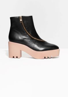 & Other Stories | Zip Leather Ankle Boots