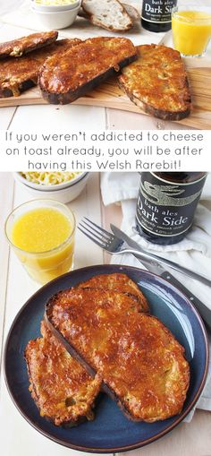 Cheese on toast is always a brunch favorite. It's quick and easy to make, and so delicious. This Welsh Rarebit uses stout, mustard seeds and Worcestershire sauce to give the cheese a malty savory edge.