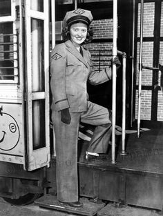 In January 1945, Alma May Billings, a 22-year-old streetcar operator for the Virginia Transit Co., modeled one of the new uniforms that had been procured to end a long controversy about what the women should wear. The uniforms were gray with dubonnet trim. Drawn up by stylists for the Virginia Electric and Power Co., the uniforms initially carried a Vepco insignia, but it was soon replaced with a VTC emblem. Richmond.com: From The Archives