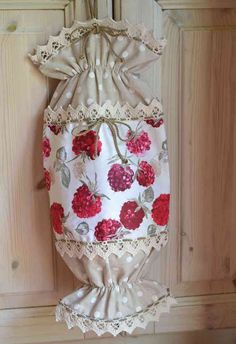 CANDY SHAPED HOLDER FOR PLASTIC BAGS - WILD BERRIES Collection  Original candy shaped holder for plastic bags realized combining two cheerfuls fantasies with a pure cotton fabric