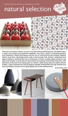 Natural selection | Home Trends: Spring/Summer 2012 Preview {trendbible.co.uk}