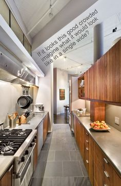 Cosy Kitchen Inspirations from New York Galley Kitchen Design, Small Galley Kitchens, Galley Kitchen Remodel, Narrow Kitchen, Grey Kitchens, Modern Kitchen Design, Kitchen Remodeling, Kitchen Designs, Kitchen Small