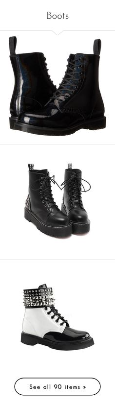 """Boots"" by killjoy29 ❤ liked on Polyvore featuring shoes, boots, ankle booties, black, ankle boots, low ankle boots, black leather boots, black lace up boots, lace up ankle boots and lace up boots"