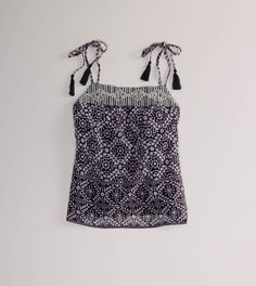 The Lightness of Being - Get the Look: American Eagle, Printed Tassel Cami, $29.50