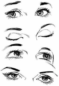 Drawing Eyes ✤ || CHARACTER DESIGN REFERENCES | Find more at https://www.facebook.com/CharacterDesignReferences if you're looking for: #line #art #character #design #model #sheet #illustration...