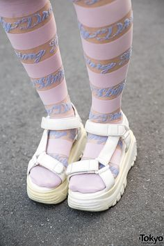 [WEGO Sandals & Striped Tights] #JapaneseSummer2014