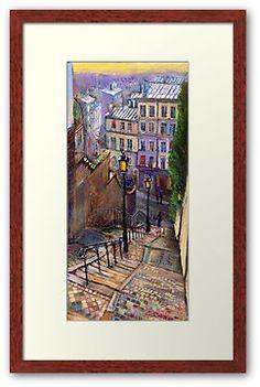 """Paris Montmartre"" Photographic Prints by Yuriy Shevchuk | Redbubble"