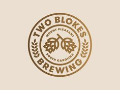 Two Blokes Brewing - Jay Fletcher #design #logo Come and see our new website at bakedcomfortfood.com!
