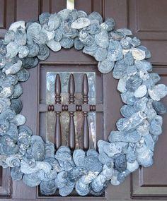A Good Home: A DIY Mini Oyster Shell Wreath