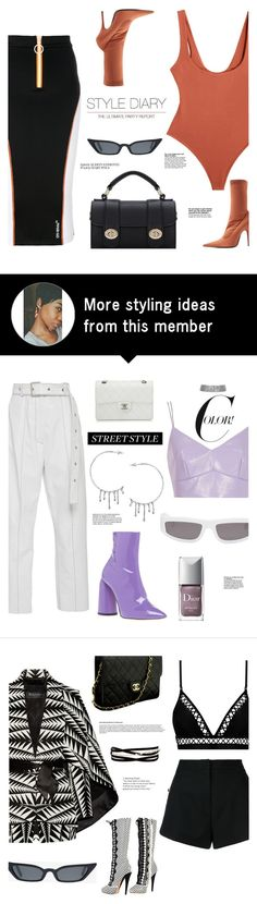 """""""OOTD"""" by gigi-lucid on Polyvore featuring Off-White, Balenciaga, Samantha Pleet, outfit, skirt and bodysuit"""