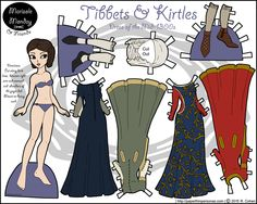 A printable historical 1300s paper doll page