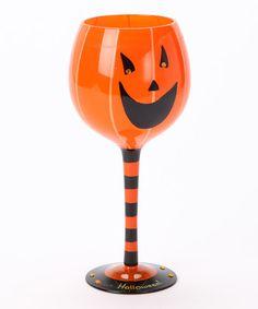 Haunted House: Decorations Pumpkin Wine Glass