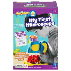 Educational Toys For 8 Year Olds Girls Boy Microscope Kid Science Kit Microscope View anything at up to 8x magnification Preschoolers can see magnified, hidden worlds with ease thanks to 2 extra-large eyepieces. (Plus, there's no need to close one eye!) Fully functional dissecting microscope allows for up-close examination of rocks, leafs, and more - no slides needed! Features 8x magnification (use the chunky focusing knob to adjust), LED light for enhanced viewing, non-skid feed, and sam...