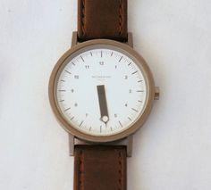 RARE Mondaine Mono Hand Wrist Watch  Water Resistant by kimvintage, $95.00