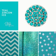 The Teal Zircon Ice Dot looks great snapped into any of our foundation pieces!  #styledots