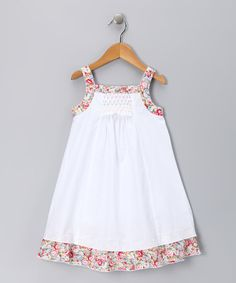 Love this White & Pink Floral Candy Dress - Infant, Toddler & Girls on…