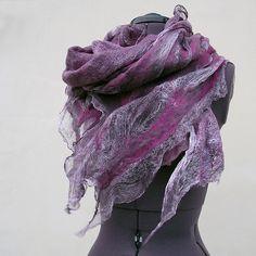 Light nuno felted scarf