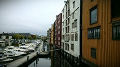 Seahouses at Nidelven river. www.visittrondheim.no