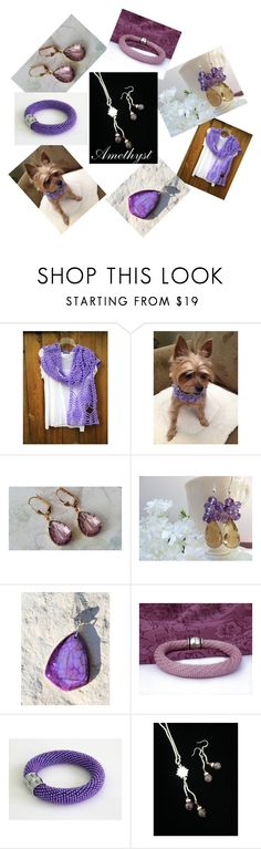 """""""Amethyst"""" by mabellerosedesigns ❤ liked on Polyvore"""