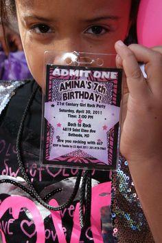 girls Amina's 21st Century Girls Rock  | CatchMyParty.com