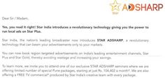 Star India Launches AdSharp: Revolutionary Concept That Allows Advertisers To Geo-target TV Ads