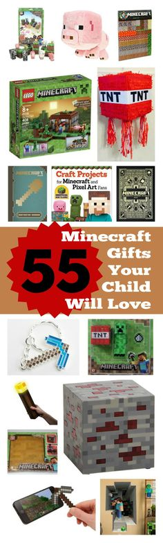 55 Best Minecraft Gifts for kids of all types, Awesome Minecraft Gifts hand-picked for you by our kids, Minecraft Gift Guide 2015 Minecraft Gifts, Minecraft Toys, Minecraft Pixel Art, Minecraft Projects, Minecraft Party, Minecraft Christmas, Our Kids, Kids And Parenting, Your Child