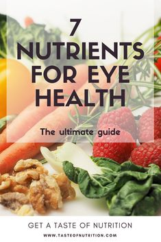 Eye Care - Our eyes need nutrition for optimal health! Learn the 7 important nutrients for . - Our eyes need nutrition for optimal health! Learn the 7 important nutrients for eye health! Nutrition Education, Nutrition Classes, Nutrition Articles, Food Articles, Holistic Nutrition, Nutrition Guide, Smart Nutrition, Nutrition Drinks, Nutrition Quotes