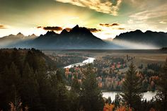 Sunset Behind Grand Teton