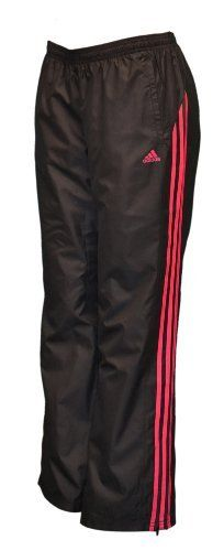 Adidas Women's 3 Stripes Work Out Training Wind Pants-Black/pink-XL adidas. $38.98